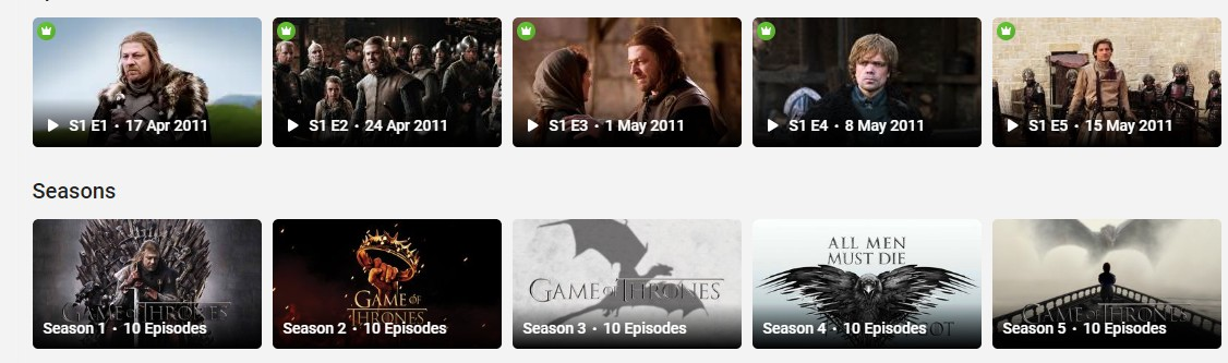 Watch Game of Thrones online on Hotstar